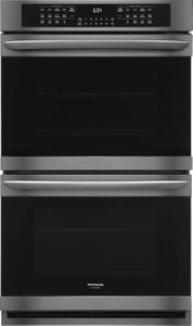 """FGET3066UD Frigidaire 30"""" Gallery Series Electric Double Wall Oven with Ready-Select Controls and Self-Cleaning - Smudge Proof Black Stainless Steel"""
