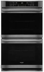 "FGET3066UD Frigidaire 30"" Gallery Series Electric Double Wall Oven with Ready-Select Controls and Self-Cleaning - Smudge Proof Black Stainless Steel"