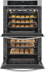"FGET3066UF Frigidaire 30"" Gallery Series Electric Double Wall Oven with Ready-Select Controls and Self-Cleaning - Smudge Proof Stainless Steel"