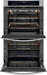 """FGET3069UF Frigidaire Gallery 30"""" Electric Double Wall Oven with Air Fry and Steam Clean - Smudge Proof Stainless Steel"""