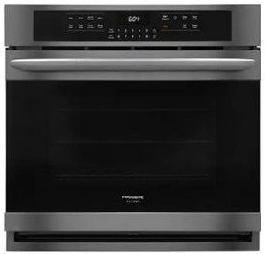 """FGEW3066UD Frigidaire 30"""" Gallery Series Electric Single Wall Oven with Self-Cleaning and Even Baking Technology - Smudge Proof Black Stainless Steel"""