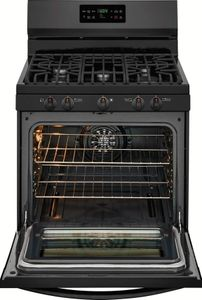 "FGGF3036TB Frigidaire Gallery 30"" Freestanding Gas Range with One-Touch Self Clean and Quick Bake Convection - Black"