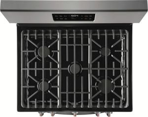 "FGGF3036TD Frigidaire Gallery 30"" Freestanding Gas Range with Quick Bake Convection and Steam Cleaning - Black Stainless Steel"