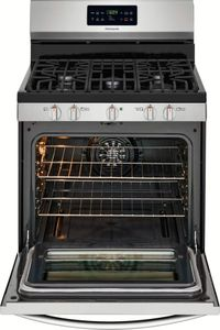 """FGGF3036TF Frigidaire Gallery 30"""" Freestanding Gas Range with One-Touch Self Clean and Quick Bake Convection - Stainless Steel"""