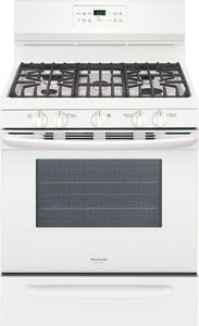 """FGGF3036TW Frigidaire Gallery 30"""" Freestanding Gas Range with One-Touch Self Clean and Quick Bake Convection - White"""