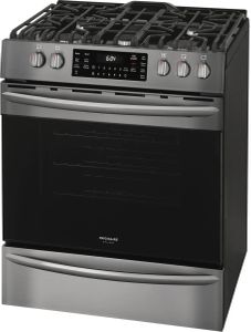 FGGH3047VD Frigidaire 30'' Gas Front Control Freestanding Range with True Convection and Air Fry - Smudge Proof Black Stainless Steel
