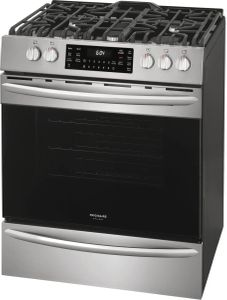 FGGH3047VF Frigidaire 30'' Gas Front Control Freestanding Range with True Convection and Air Fry - Smudge Proof Stainless Steel