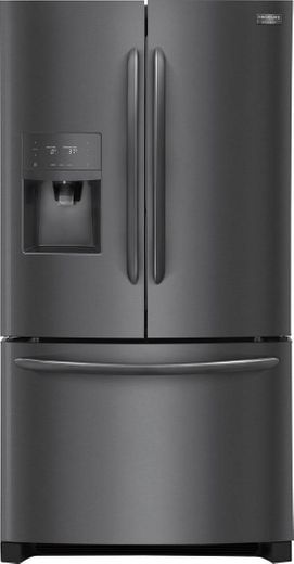 """FGHB2868TD Frigidaire 36"""" Gallery Series French Door 26.8 Cu. Ft. Refrigerator with Store-More Shelves and PureSource Ultra II Water Filtration - Black Stainless Steel"""