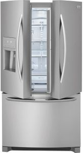 """FGHB2868TF Frigidaire 36"""" Gallery Series French Door 26.8 Cu. Ft. Refrigerator with Store-More Shelves and PureSource Ultra II Water Filtration - Stainless Steel"""