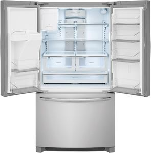 """FGHD2368TF Frigidaire 36"""" Counter Depth Gallery Series French Door 21.7 Cu. Ft. Refrigerator with Store-More Shelves and PureSource Ultra II Water Filtration - Stainless Steel"""