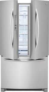 """FGHG2368TF Frigidaire 36"""" Gallery Series Counter-Depth French Door Bottom Mount 21.7 Cu. Ft. Refrigerator with Crisp Seal and PureSource Ultra II Water Filtration - Smudge Proof Stainless Steel"""