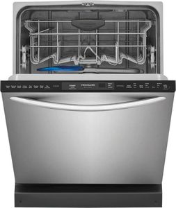 """FGID2468UF Frigidaire 24"""" Gallery Series Fully Integrated Dishwasher with Dual OrbitClean and MaxBoost Dry - SmudgeProof Stainless Steel"""