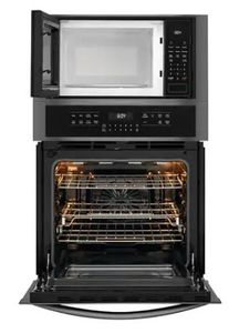 "FGMC2766UD Frigidaire 27"" Gallery Series Electric Wall Oven/Microwave Combination with Steam Clean and Quick Preheat - Smudge Proof Black Stainless Steel"
