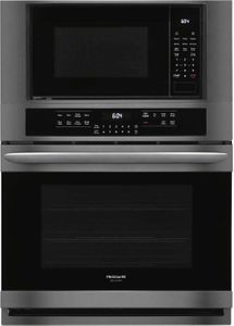 """FGMC3066UD Frigidaire 30"""" Gallery Series Electric Wall Oven/Microwave Combination with Steam Clean and Quick Preheat - Smudge Proof Black Stainless Steel"""