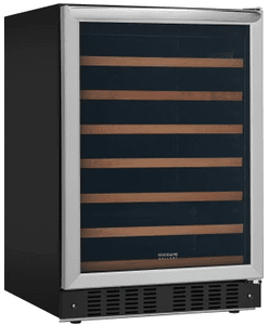 "FGWC5233TS Frigidaire 24"" Gallery Series Wine Cooler with 52-Bottle Capacity and LED Interior Light - Stainless Steel"