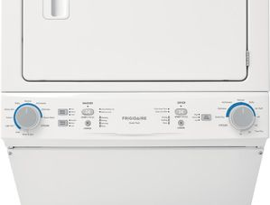 """FLCE7522AW Frigidaire 27"""" Electric Stacked Laundry Center with 3.9 cu ft Washer and 5.6 cu. ft. Electric Dryer - White"""