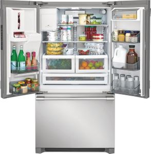 "FPBC2278UF Frigidaire 36"" Professional French Door 21.6 Cu. Ft. Counter Depth Refrigerator with SpacePro Shelving System - Smudge Proof Resistant Stainless Steel"