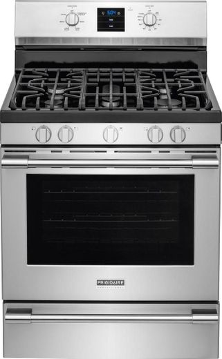 "FPGF3077QF Frigidaire Professional 30"" Freestanding Gas Range with Single-Fan Convection - Stainless Steel"