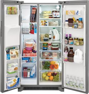 """FRSC2333AS Frigidaire 36"""" Counter Depth 22.3 Cu. Ft. Side by Side Refrigerator - Stainless Steel"""