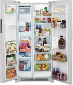 """FRSS2323AW Frigidaire 33"""" Side By Side 22.2 Cu. Ft. Refrigerator - White"""