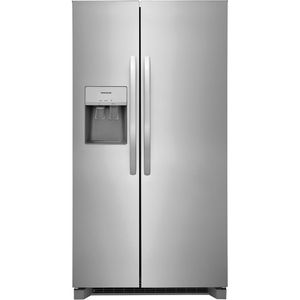 """FRSS2623AS Frigidaire 36"""" 25.6 Cu. Ft. Side by Side Refrigerator - Stainless Steel"""