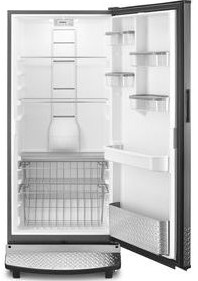 """GARF30FDGB Whirlpool 30"""" Gladiator 17.8 cu. ft. Upright All Refrigerator with Heavy Duty Shelves and Robust Styling - Black"""