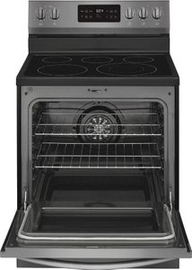 """GCRE3038AD Frigidaire 30"""" Gallery Series Freestanding Electric Range with Steam Clean Option - SmudgeProof Black Stainless Steel"""