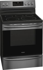 """GCRE3060AD Frigidaire 30"""" Gallery Series Freestanding Electric Range with Steam Clean Option and Air Fry - SmudgeProof Black Stainless Steel"""