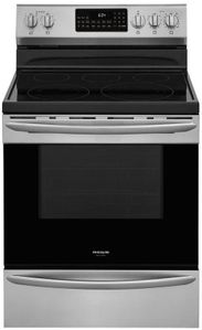 """GCRE3060AF Frigidaire 30"""" Gallery Series Freestanding Electric Range with Steam Clean Option and Air Fry - Stainless Steel"""