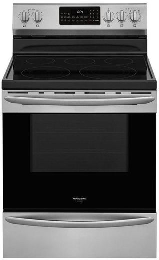 "GCRE3060AF Frigidaire 30"" Gallery Series Freestanding Electric Range with Steam Clean Option and Air Fry - Stainless Steel"
