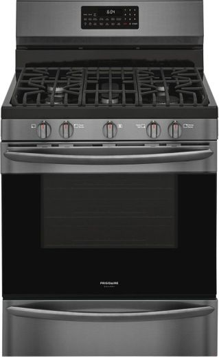 "GCRG3060AD Frigidaire 30"" Gallery Series Freestanding Gas Range with Steam Clean Option and Air Fry - SmudgeProof Black Stainless Steel"