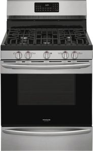 """GCRG3060AF Frigidaire 30"""" Gallery Series Freestanding Gas Range with Steam Clean Option and Air Fry - Stainless Steel"""