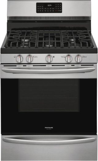 "GCRG3060AF Frigidaire 30"" Gallery Series Freestanding Gas Range with Steam Clean Option and Air Fry - Stainless Steel"