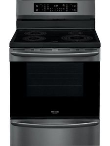"""GCRI3058AD Frigidaire Gallery 30"""" Freestanding Induction Range with Air Fry - SmudgeProof Black Stainless Steel"""