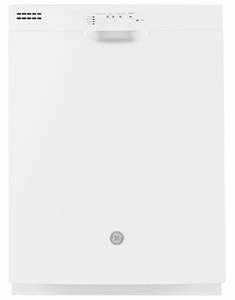"""GDF510PGMWW GE 24"""" Dishwasher with Piranha Hard Food Disposer and DryBoost - White"""