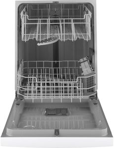"GDF510PGMWW GE 24"" Dishwasher with Piranha Hard Food Disposer and DryBoost - White"
