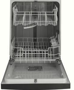 "GDF510PSMSS GE 24"" Dishwasher with Piranha Hard Food Dispenser and DryBoost - Stainless Steel"