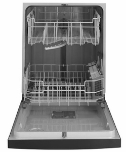 """GDF510PSMSS GE 24"""" Dishwasher with Piranha Hard Food Dispenser and DryBoost - Stainless Steel"""