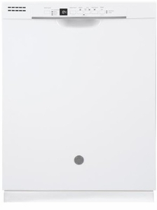 """GDF530PGMWW GE 24"""" Built-In Dishwasher with Front Controls and Dry Boost - White"""