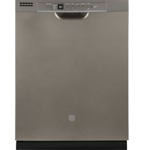 "GDF530PMMES GE 24"" Built-In Dishwasher with Front Controls and Dry Boost - Slate"
