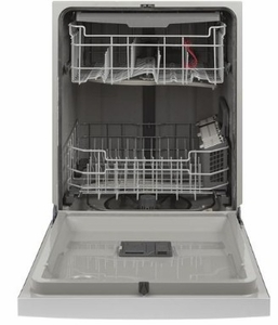 "GDF630PSMSS GE 24"" Front Control Built In Dishwasher with Dry Boost and Steam Prewash - Stainless Steel"