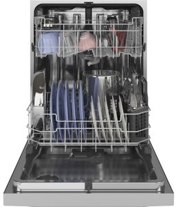 "GDF645SSNSS GE 24"" Dishwasher with Front Controls Dry Boost and Steam Prewash - Stainless Steel"