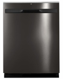 "GDP615HBMTS GE 24"" Hybrid Stainless Steel Interior Dishwasher with Steam Prewash and DryBoost - Black Stainless Steel"