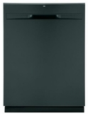 "GDP615HFMDS GE 24"" Hybrid Stainless Steel Interior Dishwasher with Steam Prewash and DryBoost - Black Slate"