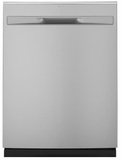 "GDP615HSMSS GE 24"" Hybrid Stainless Steel Interior Dishwasher with Steam Prewash and DryBoost - Stainless Steel"