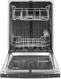 "GDP615HYNFS GE 24"" Hybrid Stainless Steel Interior Dishwasher with DryBoost and Hidden Controls - Stainless Steel"