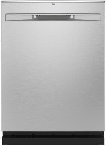 """GDP665SYNFS GE 24"""" Stainless Interior Hidden Control Dishwasher with Dry Boost and Piranha Food Dispenser - Fingerprint Resistant Stainless Steel"""