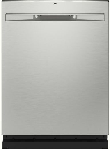"GDP665SYNFS GE 24"" Stainless Interior Hidden Control Dishwasher with Dry Boost and Piranha Food Disposer - Fingerprint Resistant Stainless Steel"