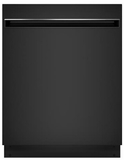 "GDT225SGLBB GE 24"" Built In Dishwasher with Piranha Hard Food Dispenser and AutoSense Cycle - Black"