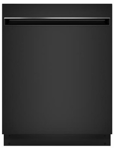 """GDT225SGLBB GE 24"""" Built In Dishwasher with Piranha Hard Food Dispenser and AutoSense Cycle - Black"""